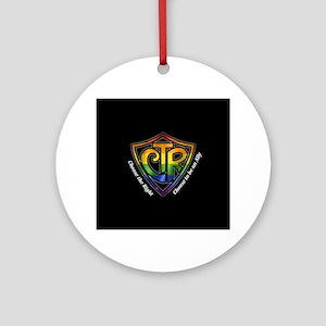 CTR Rainbow Ally Round Ornament