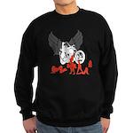 Sexy Biker Babes Sweatshirt (dark)