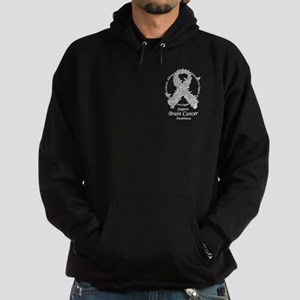 Brain Cancer Butterfly Ribbon Hoodie (dark)