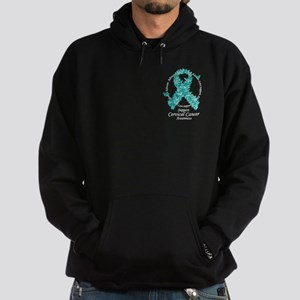 Cervical Cancer Butterfly Rib Hoodie (dark)
