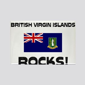 British Virgin Islands Rocks! Rectangle Magnet