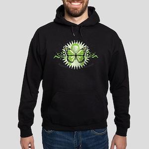 Lymphoma Tribal Butterfly Hoodie (dark)