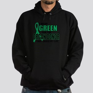 Green For Organ Donor Hoodie (dark)