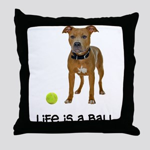 Pit Bull Life Throw Pillow