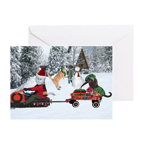 """Sandy Claws Holiday Cards (Pk of 10) 5 x 7"""""""