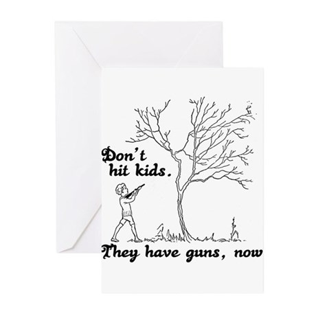 Don't hit kids - Greeting Cards (Pk of 20)