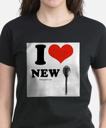 I heart New Spork - Women's Dark T-Shirt