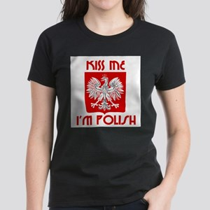Kiss me, I'm Polish - Women's Dark T-Shirt