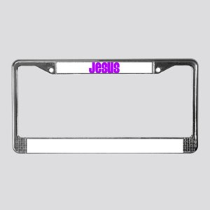 Purple Jesus License Plate Frame