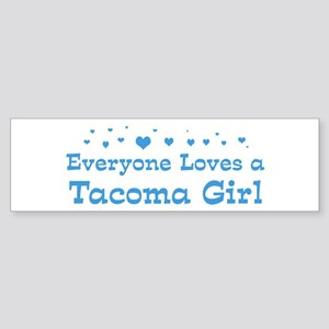 Loves Tacoma Girl Bumper Sticker