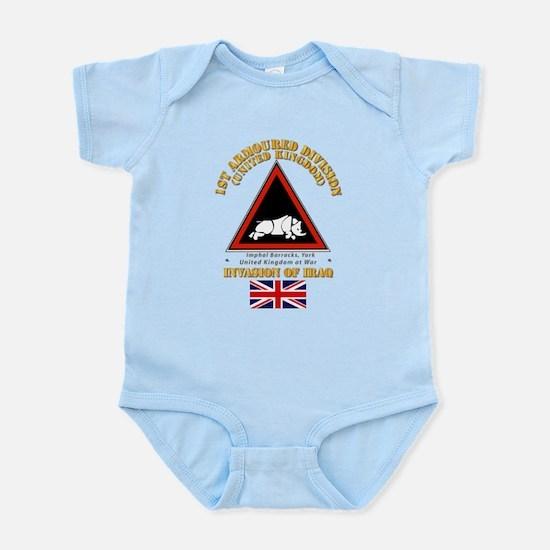 UK - 1st Armoured Division - Iraq Infant Bodysuit