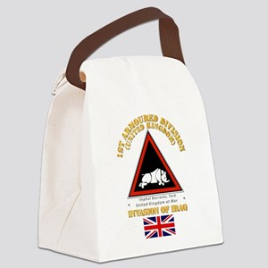 UK - 1st Armoured Division - Ira Canvas Lunch Bag