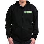 Go Green Alien Zip Hoodie (dark)