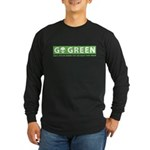 Go Green Alien Long Sleeve Dark T-Shirt