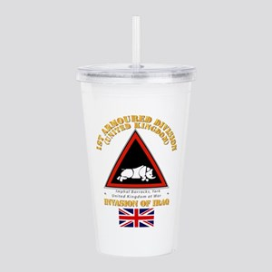 UK - 1st Armoured Div Acrylic Double-wall Tumbler