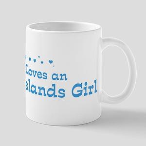 Loves US Virgin Islands Girl Mug