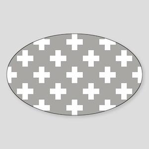 Grey Plus Sign Pattern Sticker
