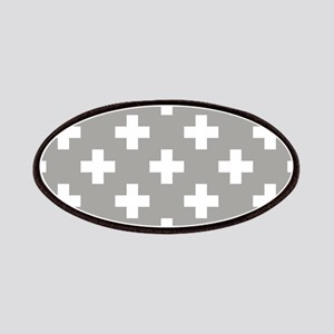 Grey Plus Sign Pattern Patch
