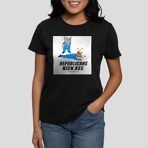 Republicans kick ass - Women's Dark T-Shirt