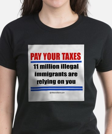 Pay your taxes - Women's Dark T-Shirt