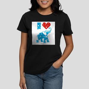 I Love Republicans - Women's Dark T-Shirt
