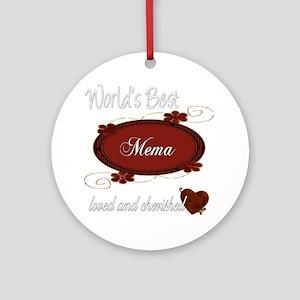 Cherished Mema Ornament (Round)