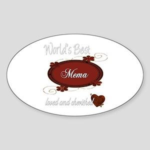 Cherished Mema Oval Sticker