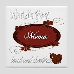 Cherished Mema Tile Coaster