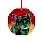 French Bulldog dog Ornament (Round)
