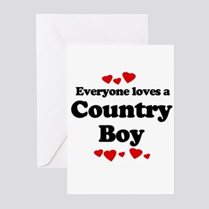 Everyone loves a Country boy Greeting Cards (Pk of