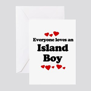 Everyone loves an Island boy Greeting Cards (Pk of