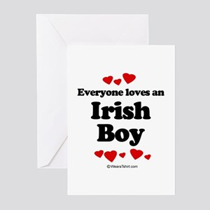 Everyone loves an Irish boy Greeting Cards (Pk of