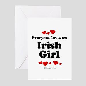 Everyone loves an Irish girl Greeting Cards (Pk of