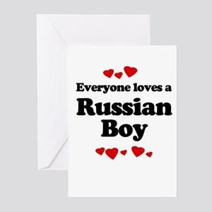Everyone loves a Russian boy Greeting Cards (Pk of