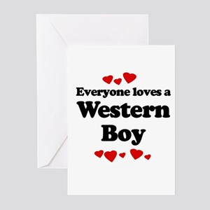 Everyone loves a Western boy Greeting Cards (Pk of