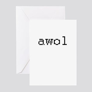 awol - Absent while online Greeting Cards (Pk of 2