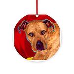 Pitbull Ornament (Round)