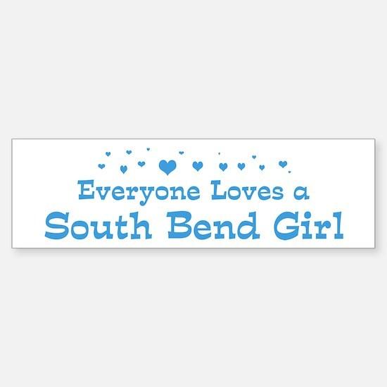 Loves South Bend Girl Bumper Bumper Bumper Sticker