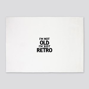 I'm not old, I'm just retro 5'x7'Area Rug