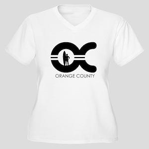 OC (Orange County) ~ Women's Plus Size V-Neck T-Sh