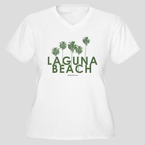 Laguna Beach - Women's Plus Size V-Neck T-Shirt