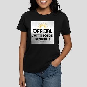 Suntan Applicator - Women's Dark T-Shirt