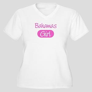 Bahamas girl Women's Plus Size V-Neck T-Shirt