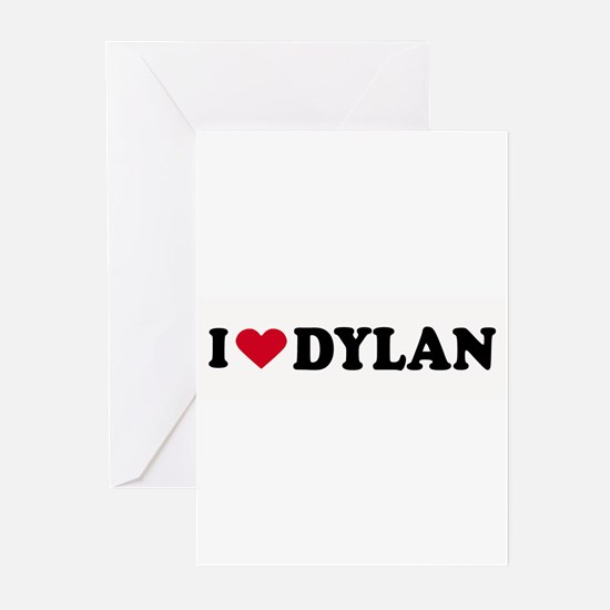 I LOVE DYLAN ~ Greeting Cards (Pk of 20)