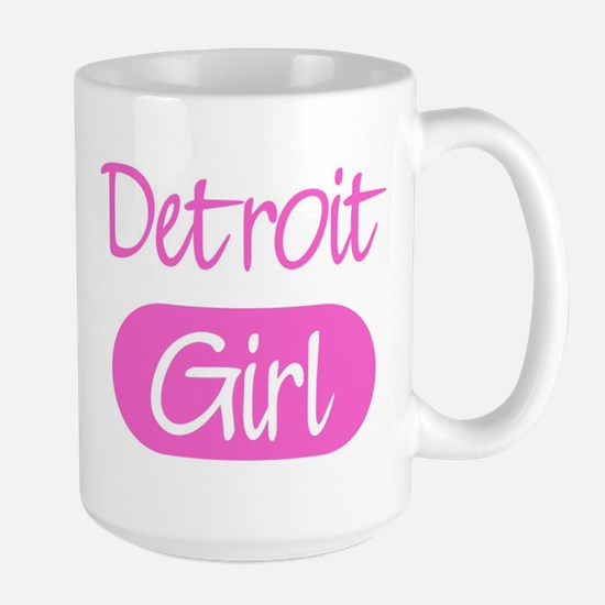 Detroit girl Large Mug