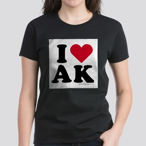 I Love Alaska ~ Women's Dark T-Shirt