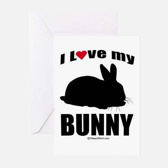 I Love my Bunny ~ Greeting Cards (Pk of 20)
