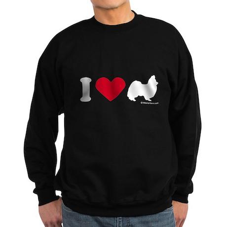 I Love my Papillion ~ Sweatshirt (dark)
