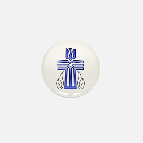 Presbyterian Cross Mini Button