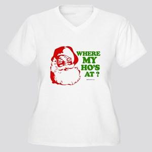 Where my ho's at? - Women's Plus Size V-Neck T-Shi